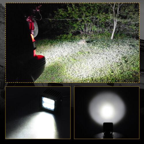"2PCS 4/"" 18W  SPOT Led Work Light Fog Reverse Cube Pods Lamp Offroad SUV ATV"