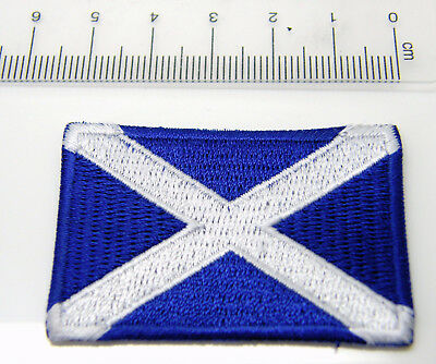 Sew Iron On Patch Saltire St Andrews Flag Lapel Pin Badge Scotland Scottish UK