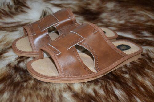 11 mulo Scarpe Pantofole da Flip in taglia da vera Sandali pelle uomo naturale flop qEXwnOw6I