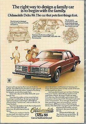 Olds Cutlass Supreme Brougham ad 1978 OLDSMOBILE CUTLASS advertisement