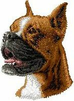 Boxer Dog, Embroidered, Patches 2.9 Tall Or Embroidered Hat