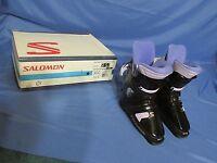 Women's Salomon Sx 50 5.0 Lady Snow Ski Boots Black & Purple Size 23 (5.5)
