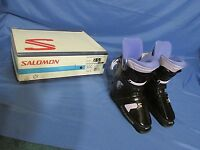 Women's Salomon Sx 50 5.0 Lady Snow Ski Boots Black & Purple Size 23 (5.5)