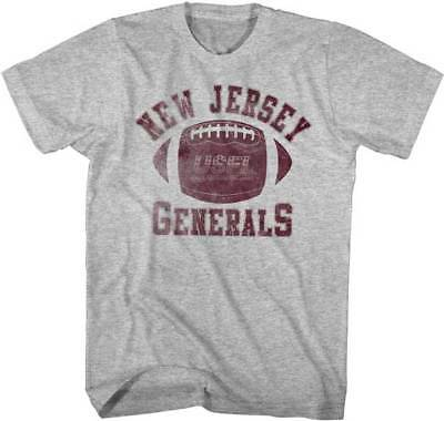 Football-other New Jersey Generals Logo Usfl Men's Tee Shirt Gray Heather Sizes S-5xl Carefully Selected Materials Fan Apparel & Souvenirs