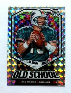 Dan Marino Panini Mosaic Old School Silver Prizm OS6 Miami Dolphins