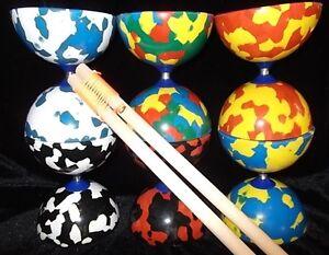 Jester-Diabolo-Wooden-Diablo-Handsticks-amp-String-Set-Circus-Hand-Sticks