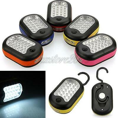 24+3 LED Work Light Hook Flashlight with Magnet&2 Light Modes outdoor camping