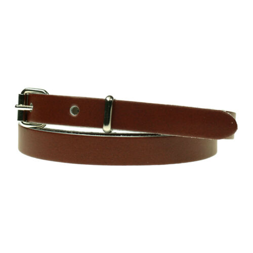 Ladies Skinny Thin Dress Fashion Waist Colourful Leather Belt Made in UK B750