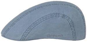 Stetson Sun Guard Flatcap Hat Cap Organic Cotton Madison 24 Light Blue New