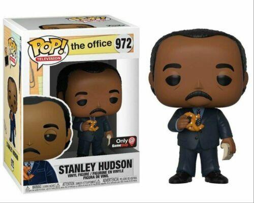 FUNKO POP STANLEY HUDSON PRETZEL DAY #972 GAMESTOP EXCLUSIVE NEW THE OFFICE GIFT