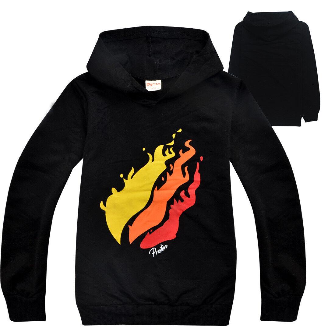 2019 new Prestonplayz children boy long-sleeved hoodies swea