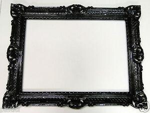 cadre photo xxl noir antique grand 70x90 baroque art nouveau rectangulaire 3056 ebay. Black Bedroom Furniture Sets. Home Design Ideas