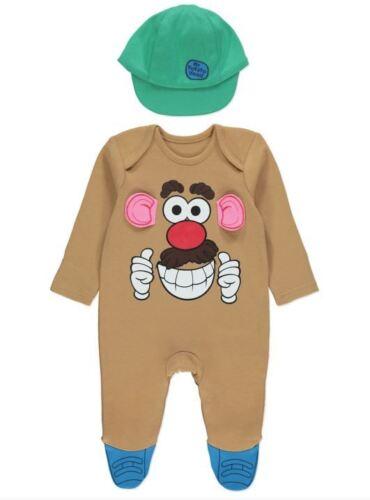 Shrek Mr Potato Head Batman Boy Girl Baby Grow Romper All In One Fancy Dress