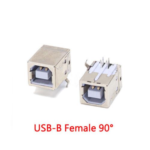 Zweilagig USB Buchse A //B Weiblich SMD //DIP Gebogen//Seiteneinsatz//90°//180°