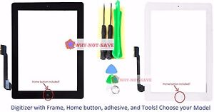 Touch-Glass-Screen-Digitizer-Replacement-part-with-Home-button-Frame-for-ipad-3