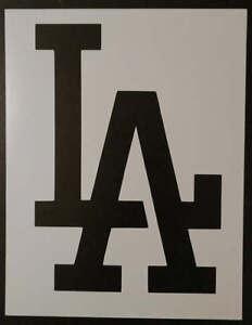 La La Los Angeles Dodgers 11 X 85 Custom Stencil Fast Free