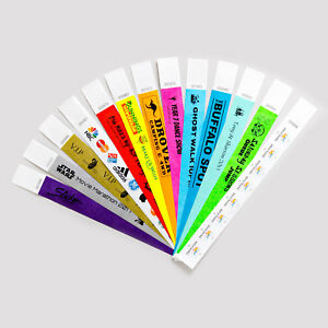 photograph relating to Printable Wristbands for Events known as Data around Customized Posted Inexpensive Tyvek Paper Wristbands Function Celebration Competition Safety SALE