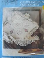 NIP Vtg 1992 SEALED Candlewicking Embroidery Kit 14x14 PATCHWORK PLATE PILLOW