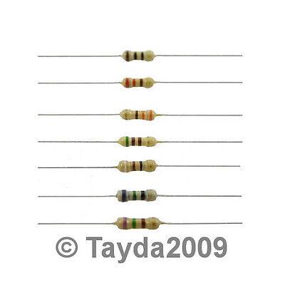 100 x Resistors 100 Ohms OHM 1/4W 5% Carbon Film