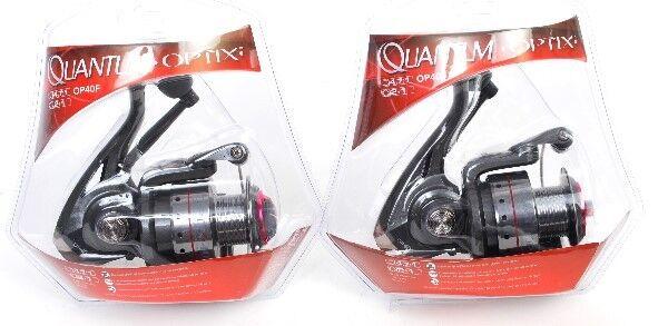 2 Quantum Optix OP40F Spin Fishing Reels, NEW