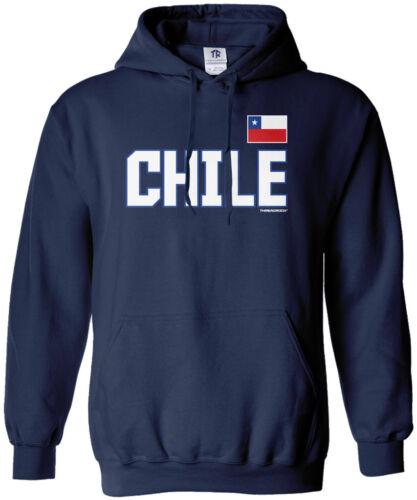 Threadrock Men/'s Chile National Team Hoodie Sweatshirt Chilean Pride