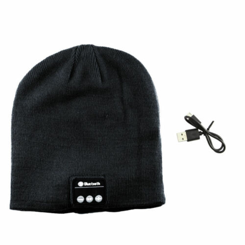 Warm Beanie Hat Wireless Bluetooth Smart LED Cap Headset Headphone Speaker Mic