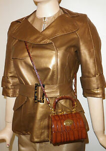 d89803b419d8 Louis Vuitton leather coat mini trench Jacket Uk 10 Limited edition ...