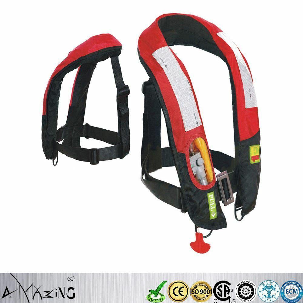 Premium M-33 Handmatig Inflatable Life Jasje Vest Buoyancy Aid PFD Zeer zichtbaar