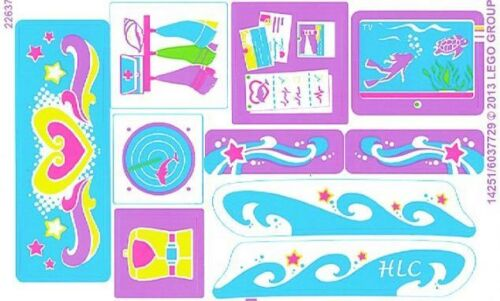 LEGO 41015 STICKER SHEET Friends Dolphin Cruiser