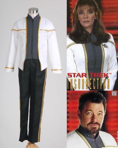 Star Trek Insurrection Deanna Troi Uniform Costume*Custom Made*:Free shipping