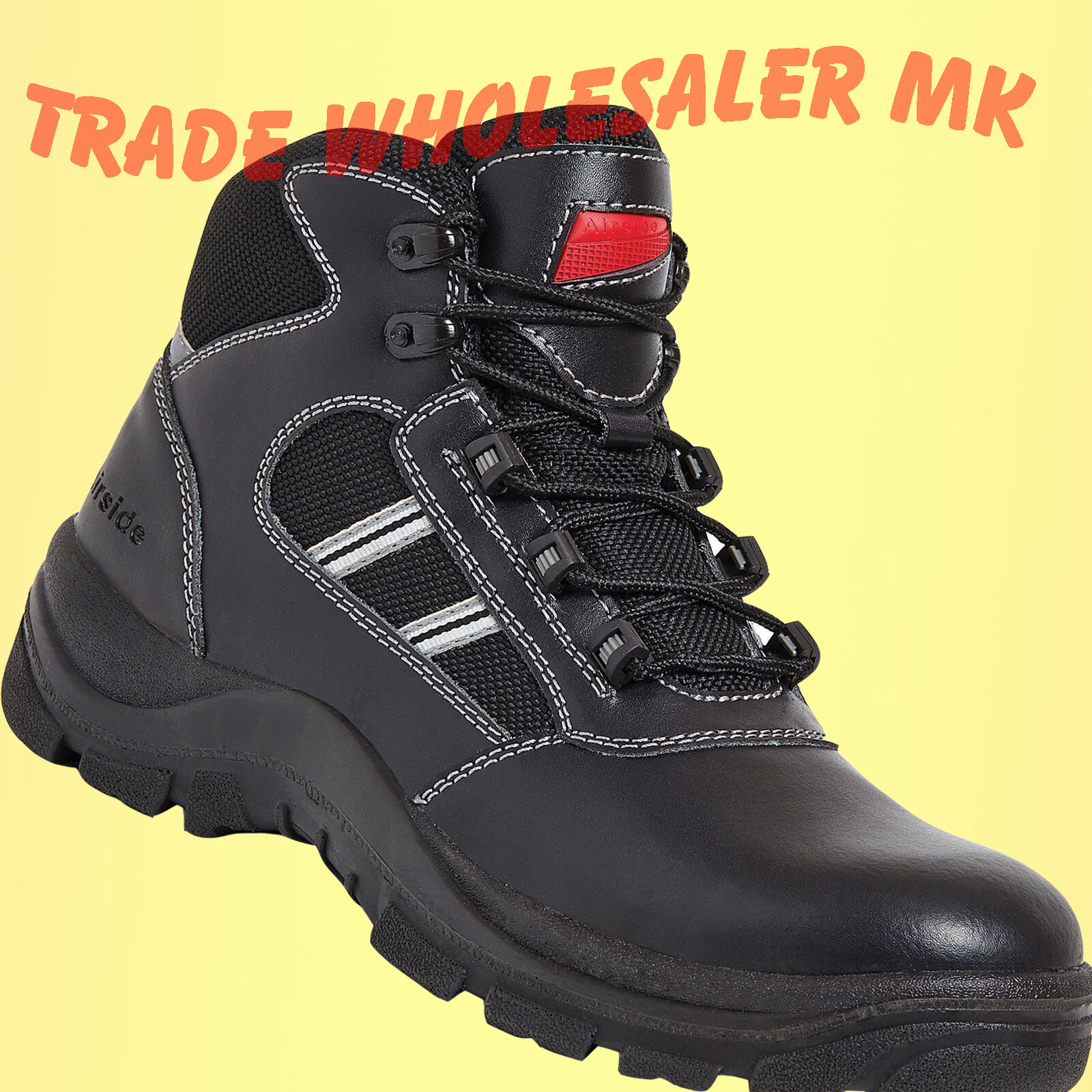 Airside SIA Tactical Composite Toe Safety Police Work  Metal Free Safety boots