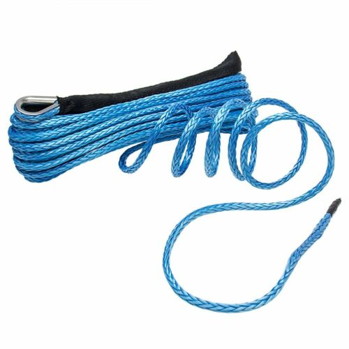 """1//4/""""X 50Ft Synthetic Winch Rope Cable Lines Recovery 10000LBS ATV 4WD With Guard"""