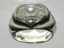 Großer Designer Ring Silber 925 Sterling Bergkristall Emaille Ø ca.19,5mm