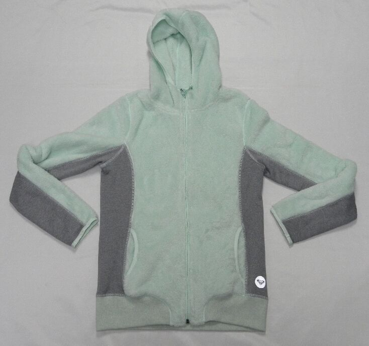 Roxy Woman Spot On Zip Up Sweater Hoodie Size Medium