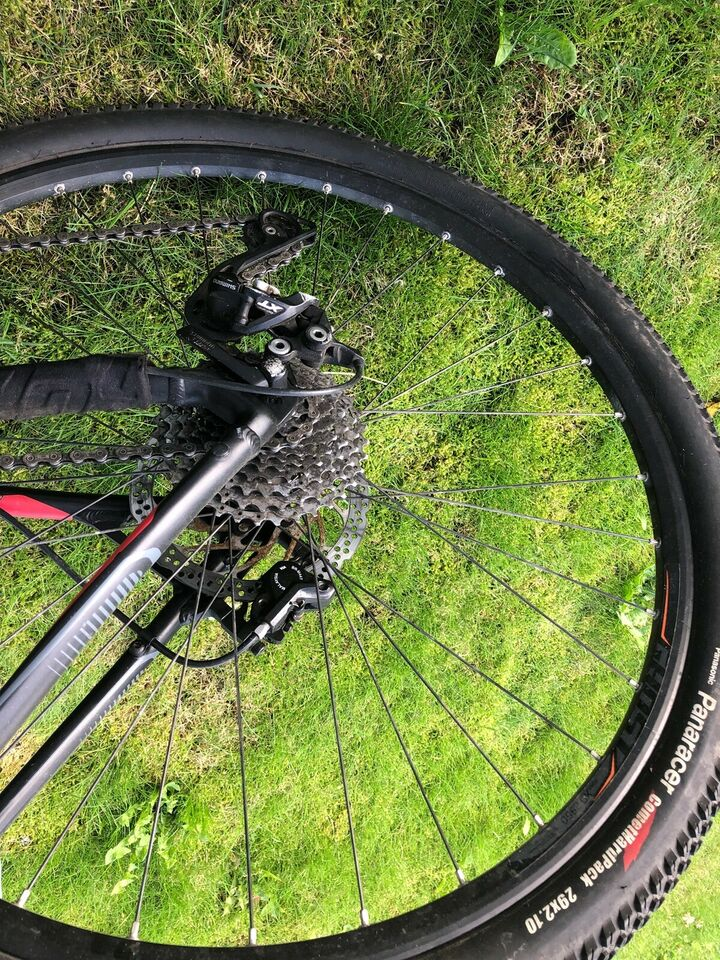 Herrecykel, Ghost Sort/rød se2970 MTB, 24 gear