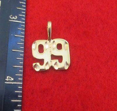 """14kt Gold Ep Nummer """" 99 """" Rautenförmig Charm Uhren & Schmuck Modeschmuck"""