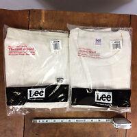 Vintage 80s Lee Thermal Long John Shirt Pants Set Usa M Underwear Base Layer