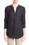 miniature 1 - * NWT Vince Textured Slub Long Sleeve Tunic Top Silk Henley Blouse 4 Navy Blue