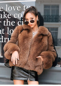 Women-039-s-Real-Vulpes-Fox-Fur-Coat-Natural-Fox-Fur-Overcoat-Thick-Warm-Outerwear