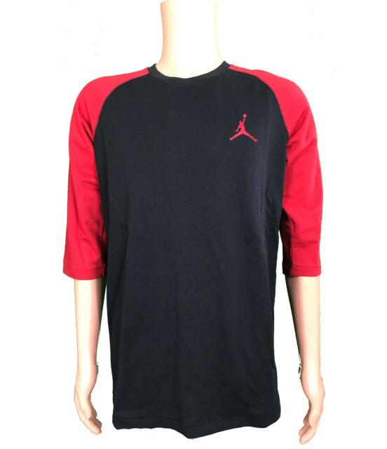 79065bebceddc1 Nike Men s Size Medium Jordan Jumpman 23 True 3 4 Raglan Top Black ...
