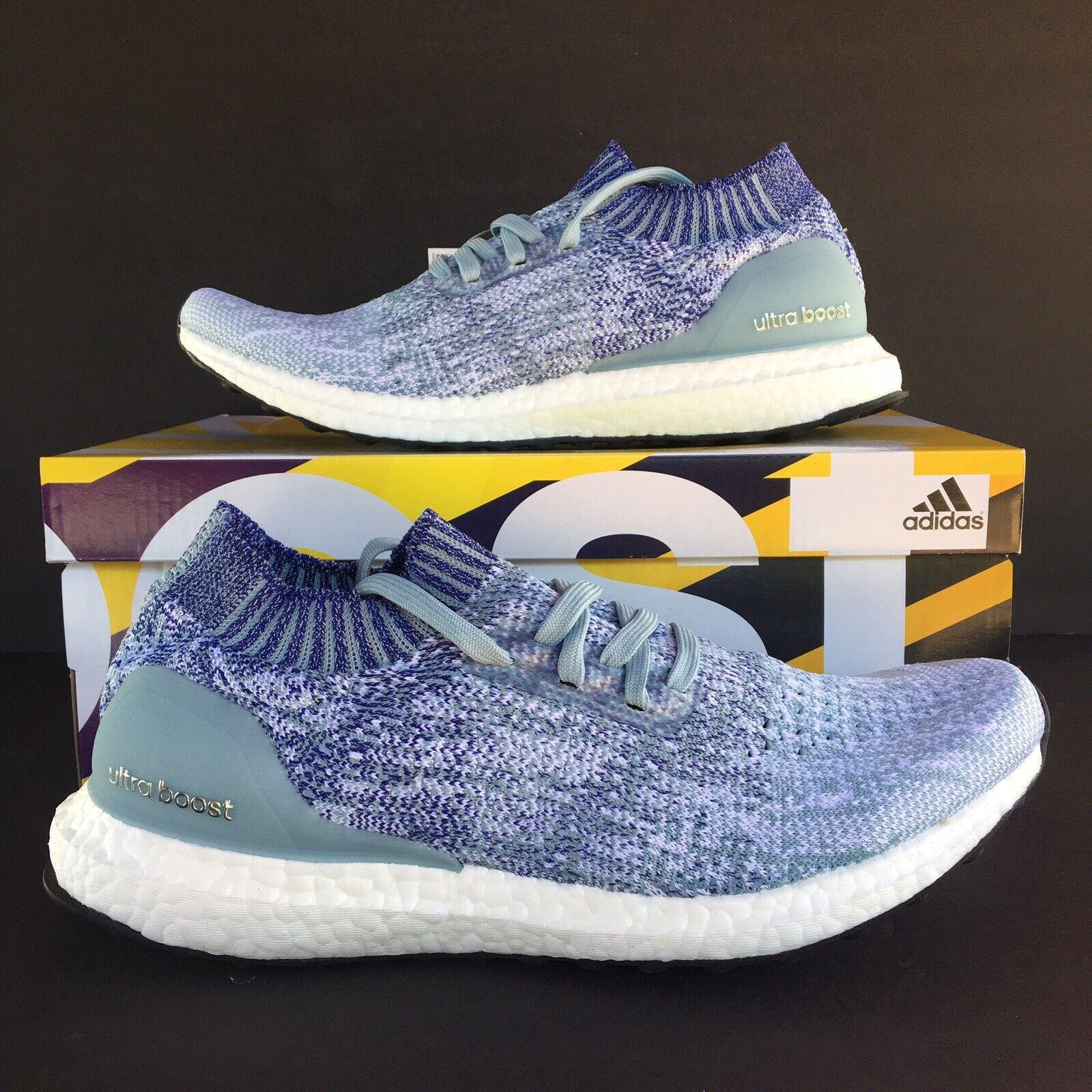 Adidas Ultra Boost Uncaged Herren Größe 8.5 Laufschuhe Aschgrau Blau Rot B37693