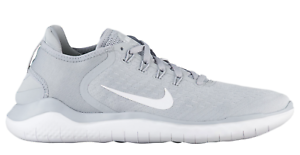 New NIKE FREE RN 2018 42836-003 - Uomo Wolf Grey/White Running Shoes c1