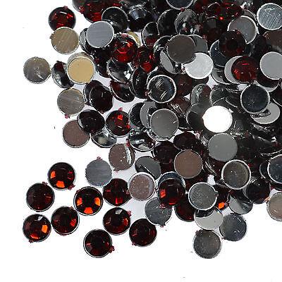 1000 Crystal Flat Back Rhinestones Gems Diamante Bead Nail Art Crafts 1.5mm- 6mm