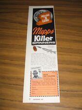 1974 Print Ad Mepps Killer Spinners Fishing Lures Antigo,WI