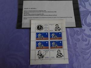 Apollo 14 Sheet original signiert Edgar Mitchell Space