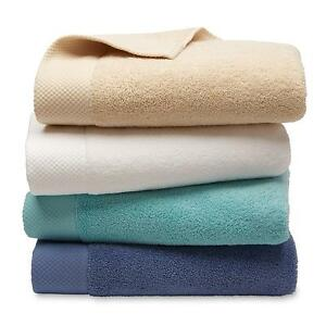 Bath Hand Towels Washcloths Plush Terry Soft Absorbent Solid Color