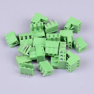 10Pcs-KF2EDGK-KF-3P-3pin-right-angle-plug-in-terminal-contor-5-08mm-pitch-C