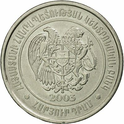 100 Dram Nickel Plated Steel Coin 40-45 2003 #536566 Ef Sunny Km:95 2019 Official Armenia