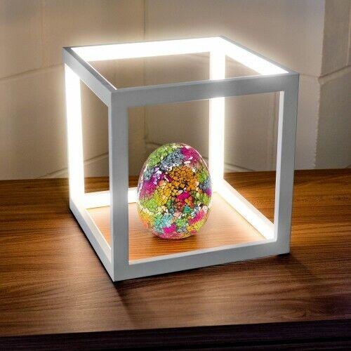 Weiß Cube Box LED Table Lamp Bedside Nightstand Minimalist Desk-lamp Modern