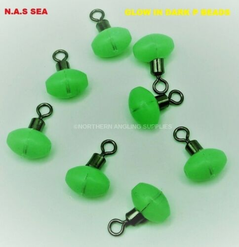 GLOW IN THE DARK PULLEY BEADS FOR SEA FISHING LUMINOUS USE FOR PULLEY RIGS